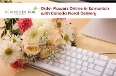 Order Flowers Online in Edmonton with Canada Floral Delivery