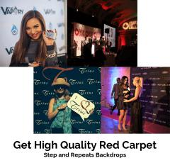 Get High Quality Red Carpet Step and Repeats Backdrops