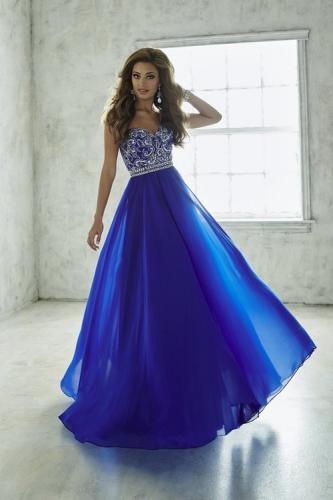 SHIMMERING SWEETHEART A-LINE CHIFFON EVENING GOWN