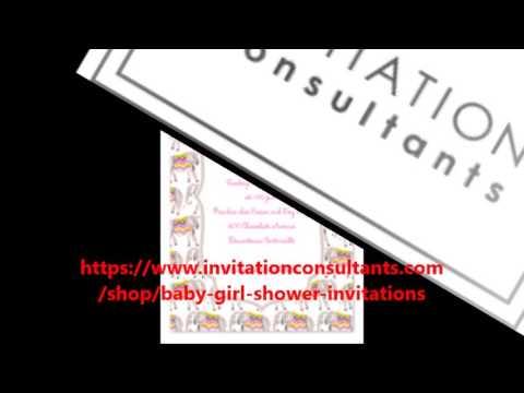 Girl Baby Shower Invites