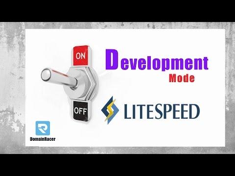 Disable LiteSpeed Cache & Enable Development Mode 2017